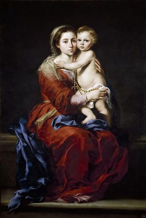 Murillo, Bartolomé Esteban -- La Virgen del Rosario. Part 3 Prado Museum