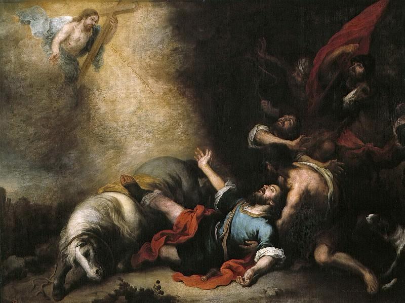 Murillo, Bartolomé Esteban -- La conversión de San Pablo. Part 3 Prado Museum