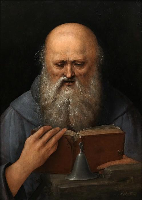 Lodi, Giovanni Agostino da -- San Antonio Abad, en meditación. Part 3 Prado Museum