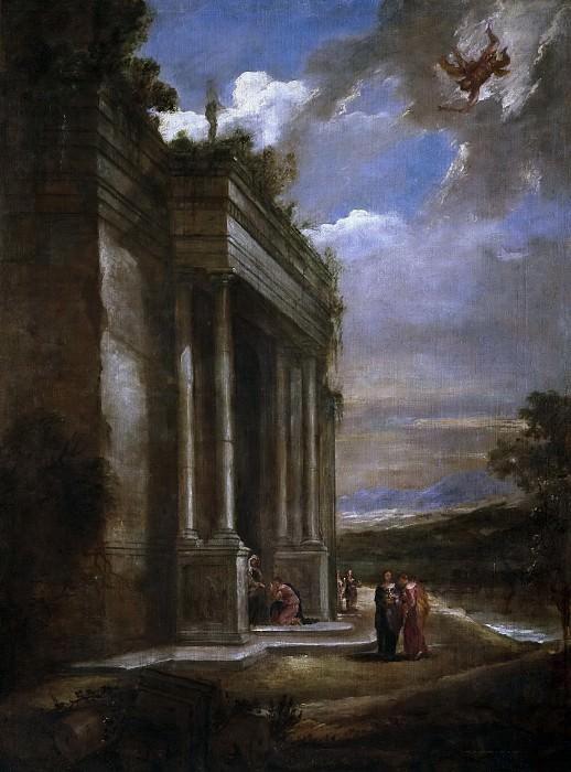 Martínez del Mazo, Juan Bautista -- Paisaje con Mercurio y Herse. Part 3 Prado Museum