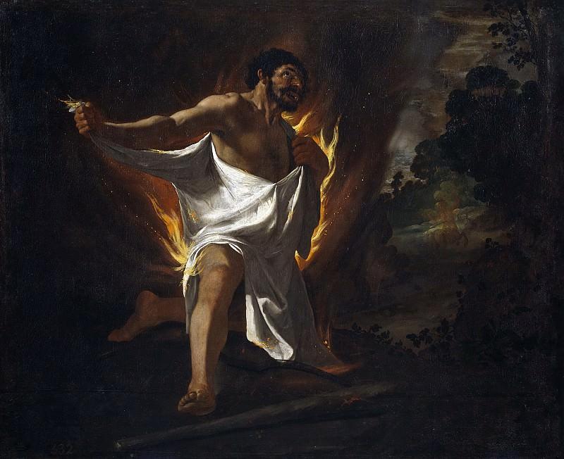 Zurbarán, Francisco de -- Muerte de Hércules, abrasado por la túnica del centauro Neso. Part 3 Prado Museum