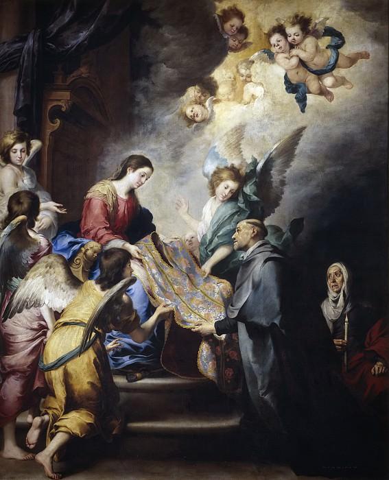 Murillo, Bartolomé Esteban -- Imposición de la casulla a san Ildefonso. Part 3 Prado Museum