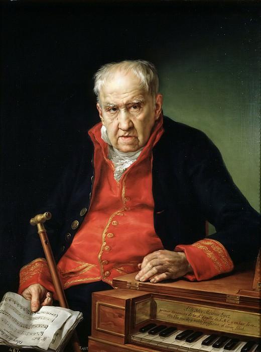 López Portaña, Vicente -- Félix Antonio Máximo López, primer organista de la Real Capilla. Part 3 Prado Museum