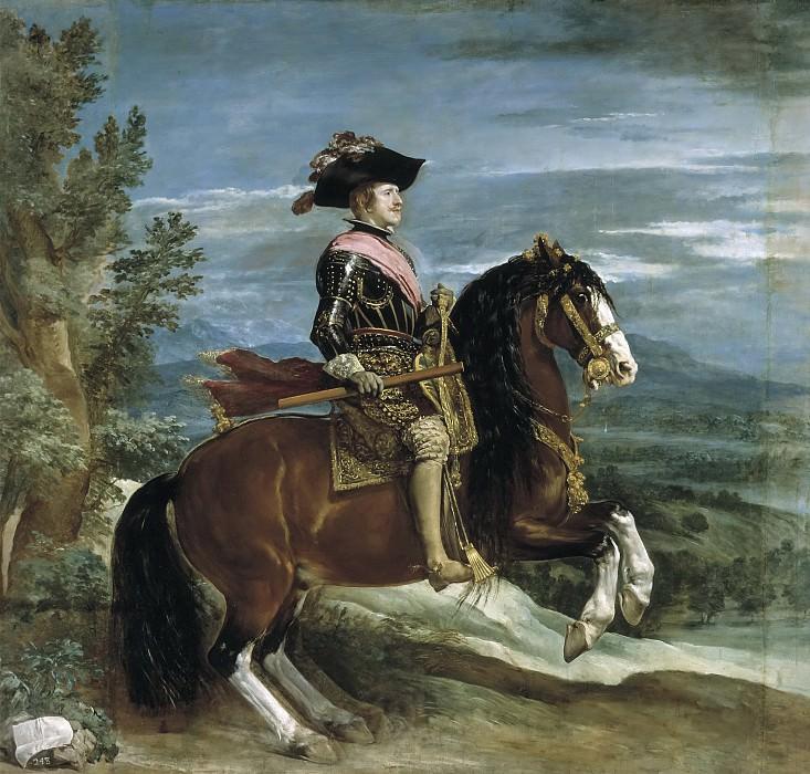 Felipe IV, a caballo. Diego Rodriguez De Silva y Velazquez