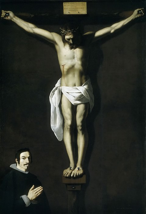 Сурбаран, Франсиско де -- Распятие с донатором. Часть 3 Музей Прадо