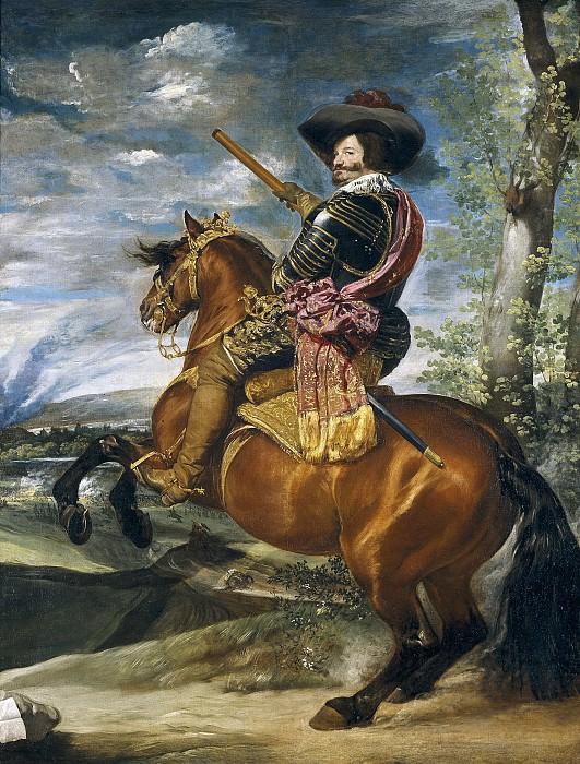 Gaspar de Guzmán, conde-duque de Olivares, a caballo. Diego Rodriguez De Silva y Velazquez