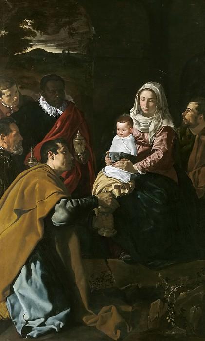 La Adoración de los Reyes Magos. Diego Rodriguez De Silva y Velazquez
