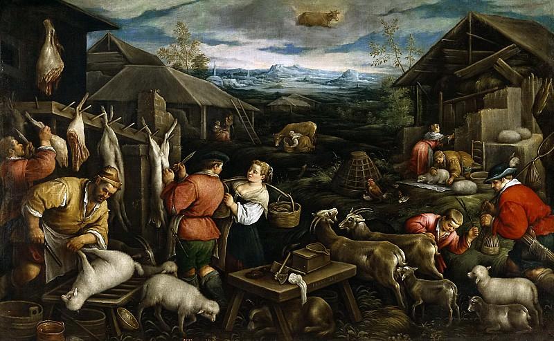 Bassano, Francesco -- Abril (Tauro). Part 3 Prado Museum