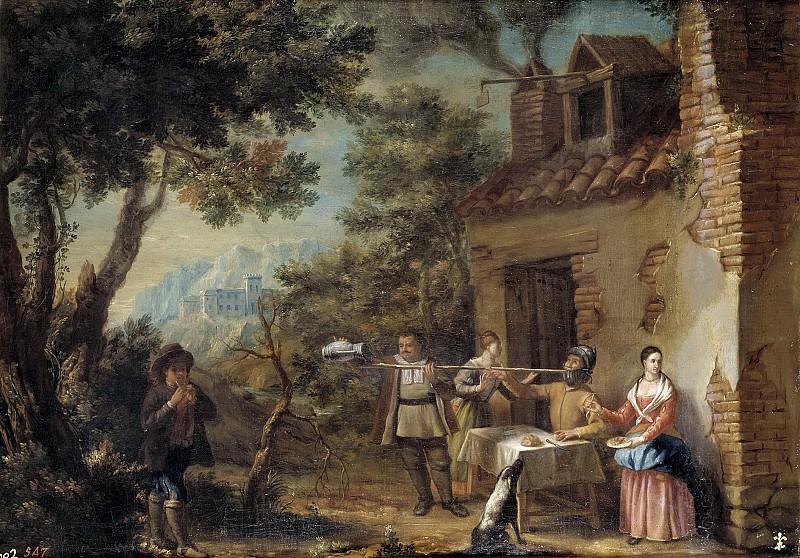 Iriarte, Valero -- Don Quijote en la venta. Part 3 Prado Museum