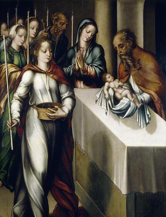Morales, Luis de -- La Presentación de Jesús en el Templo. Part 3 Prado Museum