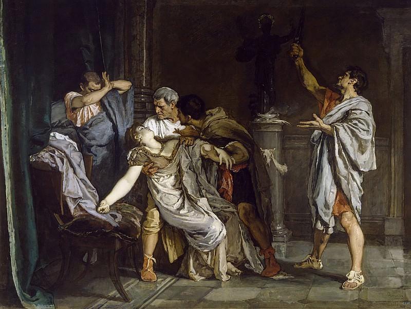 Rosales Gallinas, Eduardo -- La muerte de Lucrecia. Part 3 Prado Museum