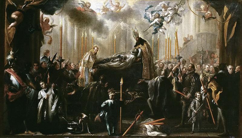 Meléndez, Miguel Jacinto -- El entierro del señor de Orgaz. Part 3 Prado Museum