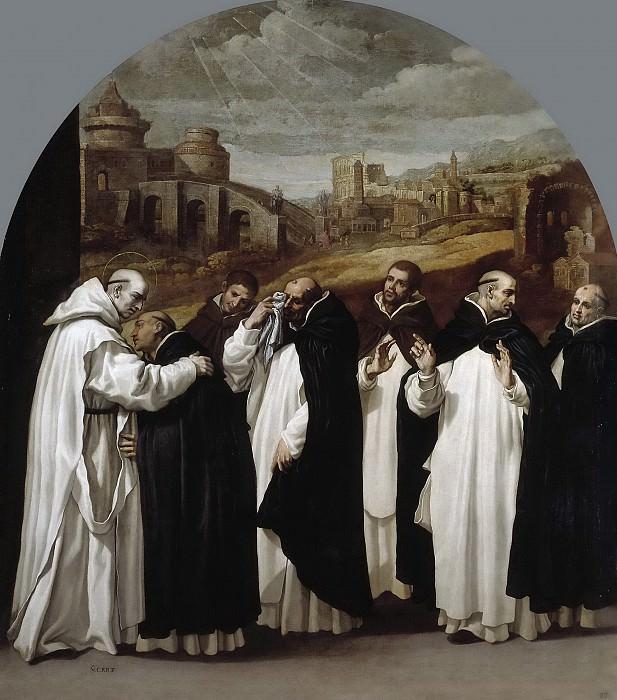 Carducho, Vicente -- San Bruno se despide en Roma de sus compañeros. Part 3 Prado Museum