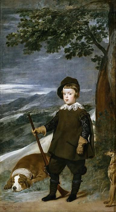 El príncipe Baltasar Carlos, cazador. Diego Rodriguez De Silva y Velazquez