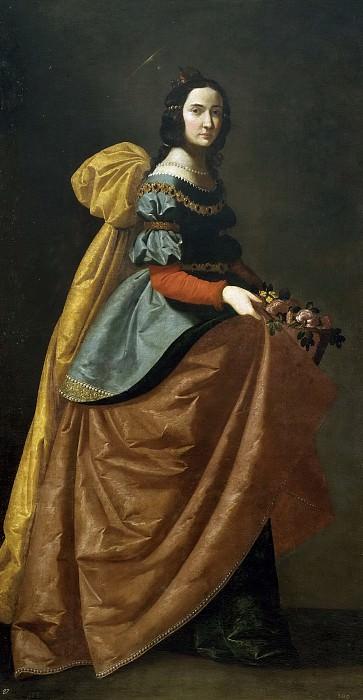 Zurbarán, Francisco de -- Santa Isabel de Portugal. Part 3 Prado Museum