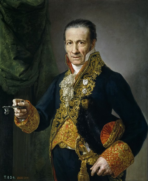 López Portaña, Vicente -- Luis Veldrof, aposentador mayor y conserje del Real Palacio. Part 3 Prado Museum