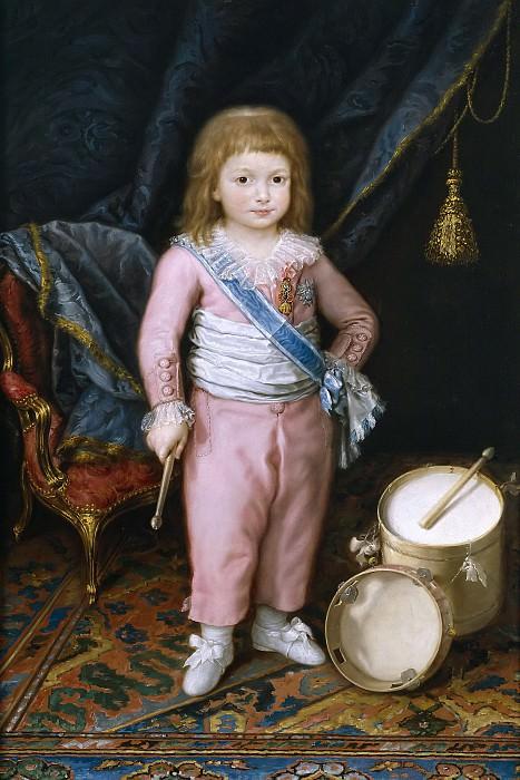 Carnicero, Antonio -- Un infante con tambor y pandereta. Part 3 Prado Museum