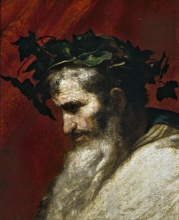 Ribera, José de -- Cabeza del dios Baco (fragmento de El triunfo de Baco). Part 3 Prado Museum