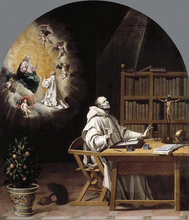 Carducho, Vicente -- La visión de Dionisio Rickel, el Cartujano. Part 3 Prado Museum