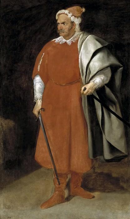 Velázquez, Diego Rodríguez de Silva y -- El bufón Barbarroja, don Cristobal de Castañeda y Pernía. Part 3 Prado Museum
