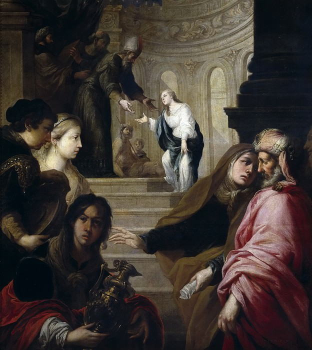 Sevilla y Romero, Juan de -- La Presentación de la Virgen en el Templo. Part 3 Prado Museum