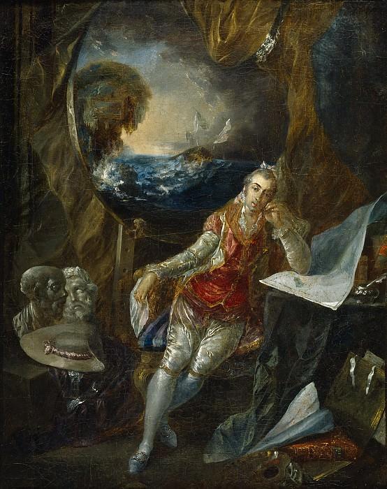 Paret y Alcázar, Luis -- Autorretrato en el estudio. Part 3 Prado Museum
