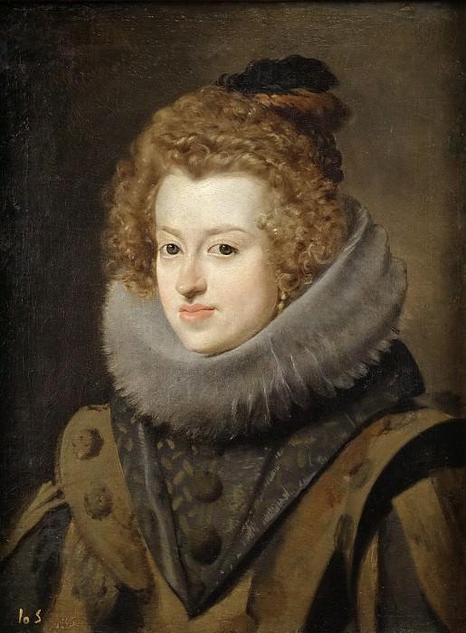 Velázquez, Diego Rodríguez de Silva y -- María de Austria, reina de Hungría. Part 3 Prado Museum