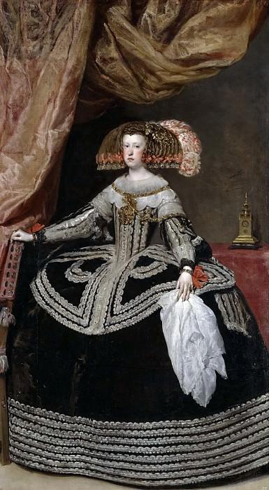 Mariana de Austria, reina de España. Diego Rodriguez De Silva y Velazquez