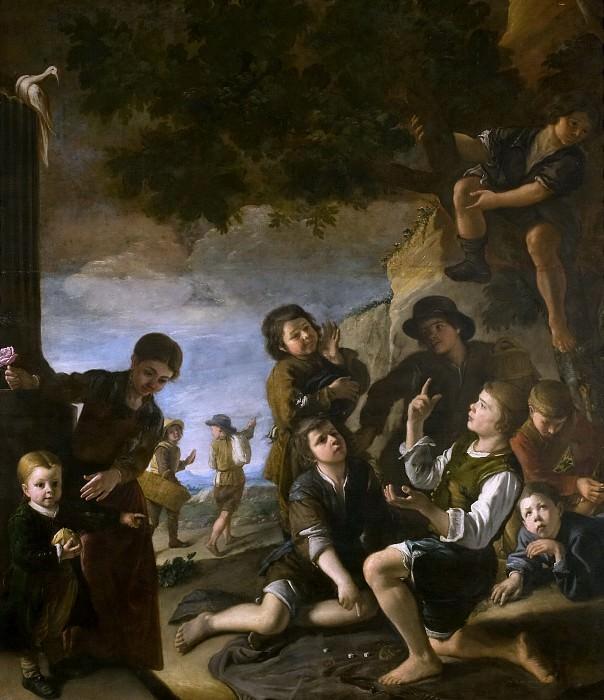 Núñez de Villavicencio, Pedro -- Niños jugando a los dados. Part 3 Prado Museum
