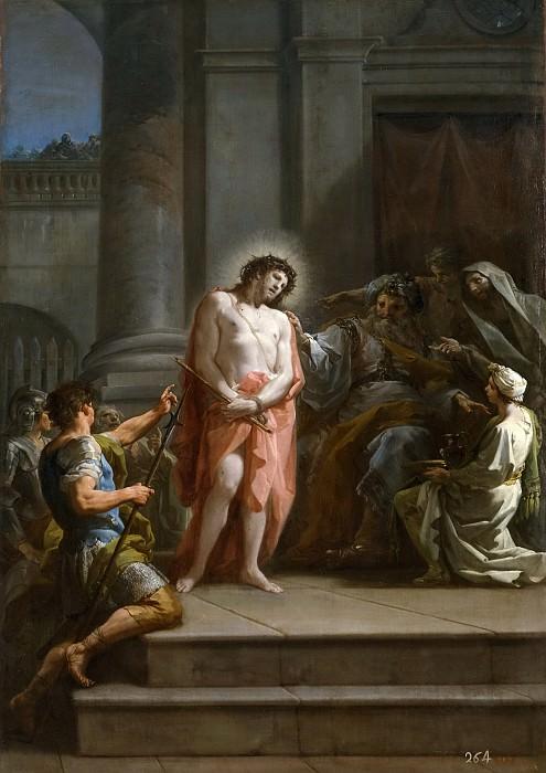 Giaquinto, Corrado -- Cristo ante Pilatos en el pretorio. Part 3 Prado Museum