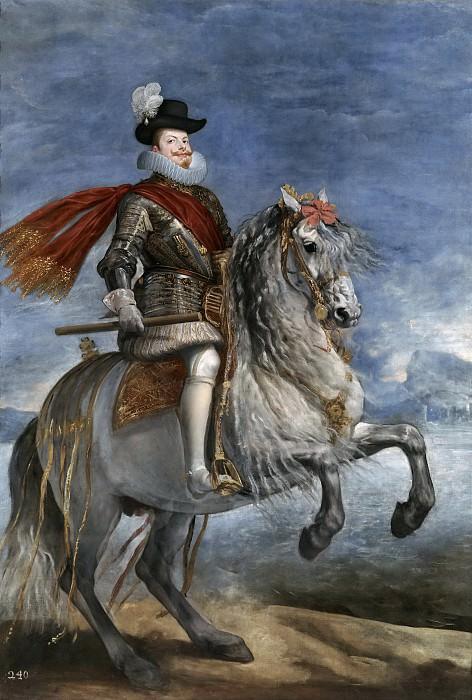 Felipe III, a caballo. Diego Rodriguez De Silva y Velazquez