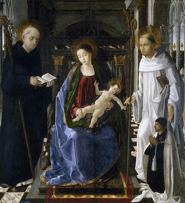 San Leocadio, Paolo de -- La Virgen del caballero de Montesa. Part 3 Prado Museum