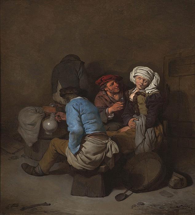 Корнелис Питерс Бега - Обольщаемая крестьяночка. Европейская живопись; часть 1