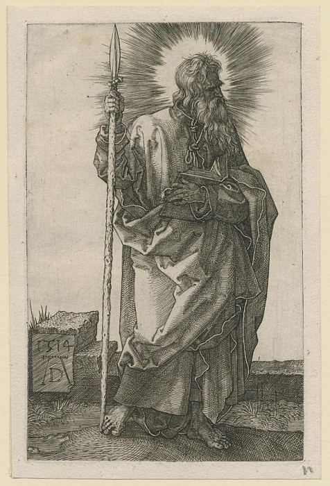 Albrecht Dürer Der Apostel Thomas – Saint Thomas 1514 122371 1124. European art; part 1