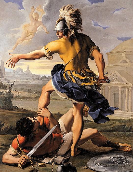 Aureliano Milani The Combat of Aeneas and Turnus 16235 203. European art; part 1