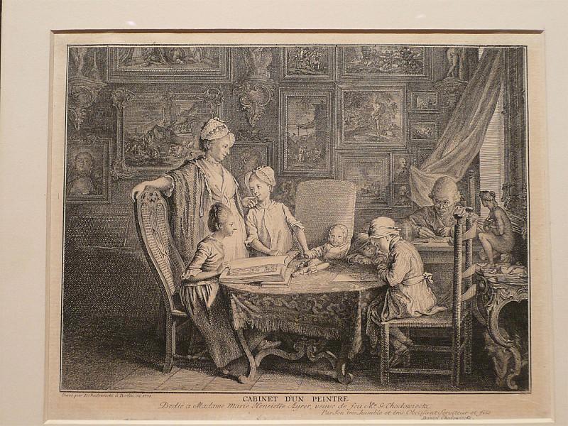 Daniel Nikolaus Chodowiecki Cabinet d'un Peintre 40891 172. Европейская живопись; часть 1