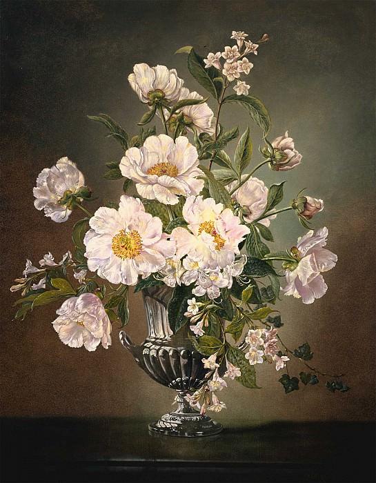 Cecil Kennedy Flowers in a silver pedestal vase 40224 20. Европейская живопись; часть 1