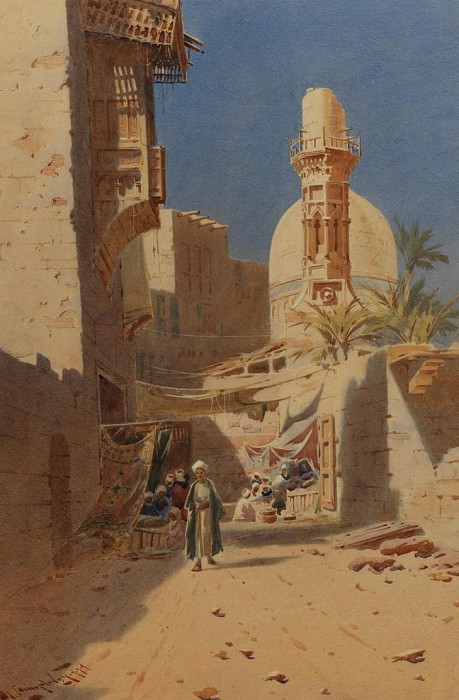 Augustus O Lamplough A North African Street Scene 108519 3606. European art; part 1