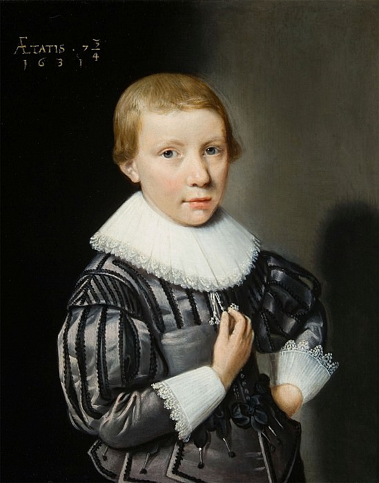 17th Century Dutch School Portrait of a Boy ages Seven and three quarters 27406 268. European art; part 1