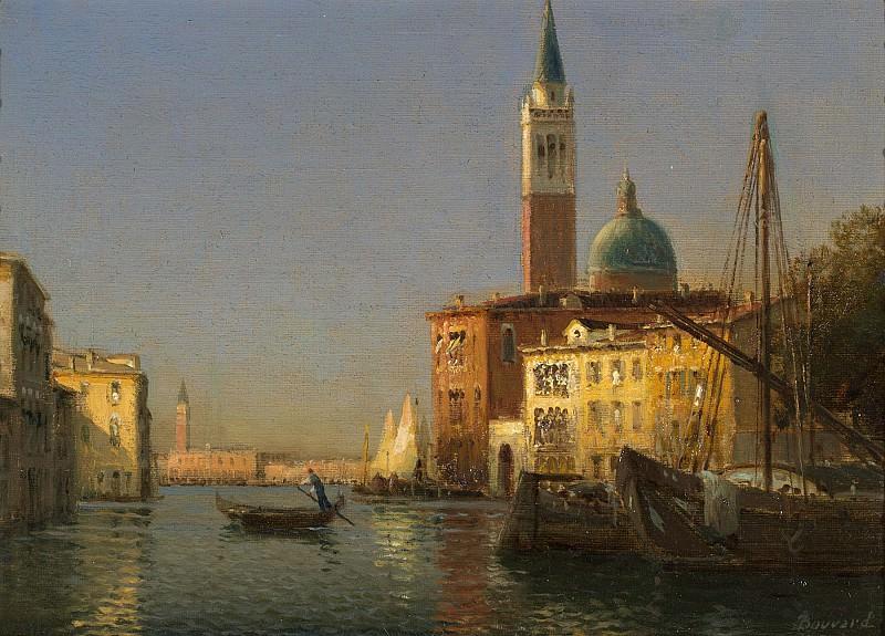 Antoine Bouvard Sr A Venetian Canal Scene. European art; part 1