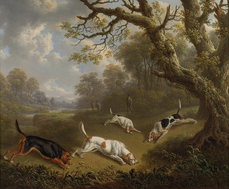 Charles Towne Sportsmen with dogs on the scent 100359 20. European art; part 1