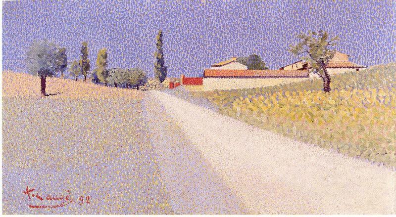 Achille LAUGE Route de campagne 40613 1146. European art; part 1