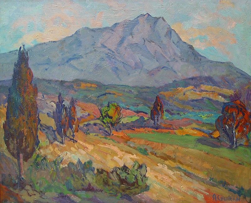 Antoine Marie Joseph Guiran Sainte Victoire Mountain 36989 3306. European art; part 1