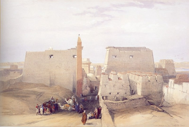 David Roberts Grand Entrance to the Temple of Luxor 31438 3606. European art; part 1