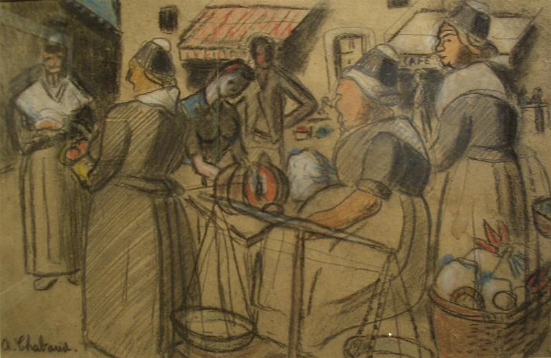 Auguste CHABAUD Le marchГ© 36428 3449. European art; part 1
