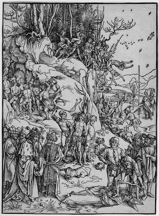 Albrecht Durer - The Martyrdom of the ten thousand Christians 122220 1124. European art; part 1