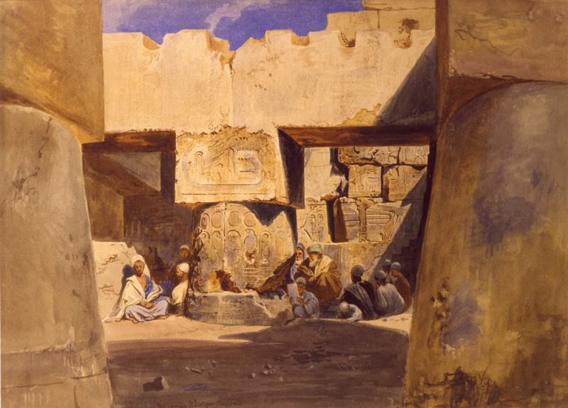 Carl Werner School in the Temple of Luxor 31340 3606. European art; part 1