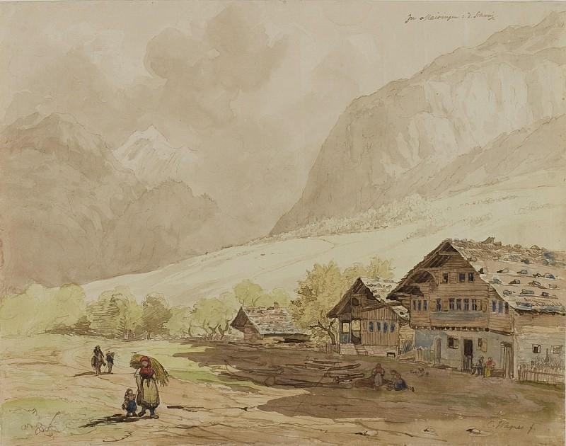Carl Wagner View of Meiringen in Switzerland 122568 1124. European art; part 1