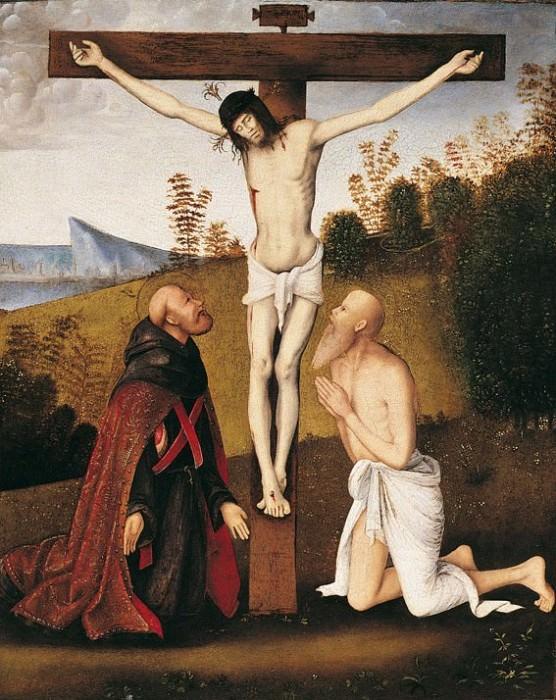 Bernardino di Bosio Zaganelli Christ on the Cross with Saint Jerome and an Augustinian Saint 16721 203. European art; part 1