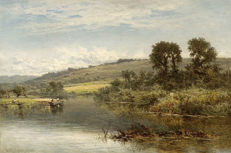 Benjamin Williams Leader The Thames at Streatley 40256 20. European art; part 1